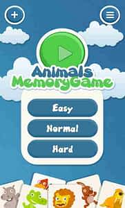 Memory-App-Animals-Startscreen