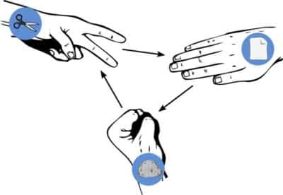 Pick a team with Rock-Paper-Scissors